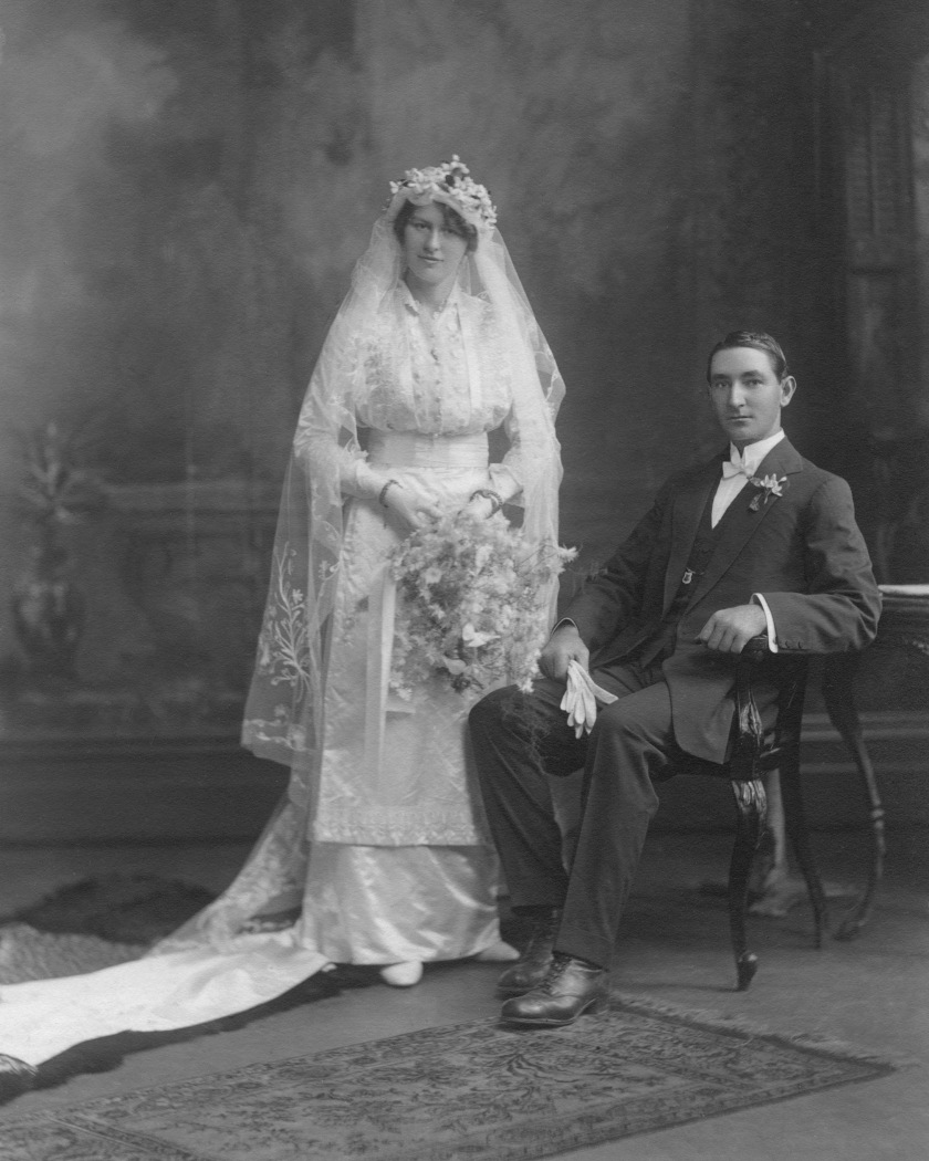 My grandparents wedding 1915